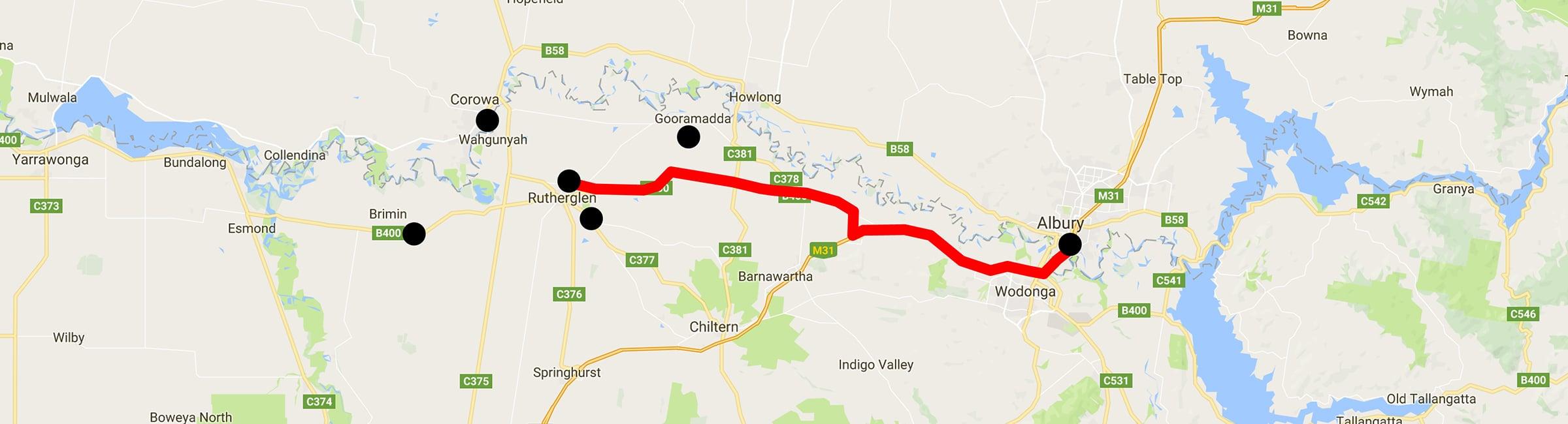 Day Trip - Rutherglen - Albury - Albury Taxis