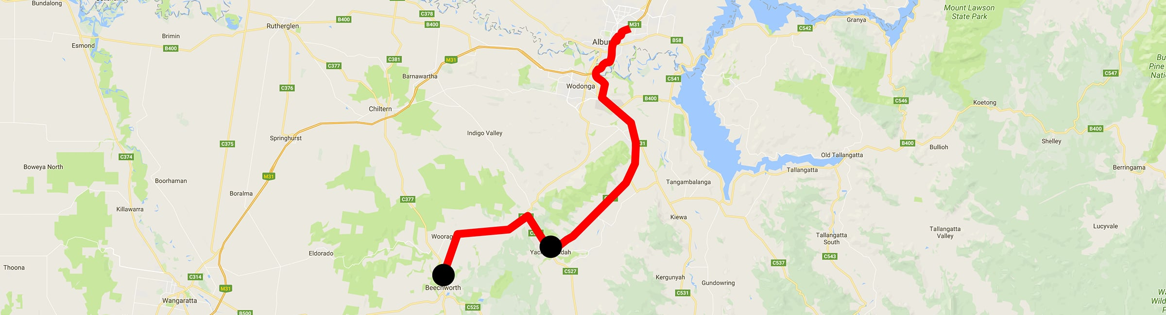 Day Trip - Yackandandah - Beechworth - Albury Taxis